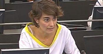 Rosa Martínez, diputada de EQUO, en el Congreso de los Diputados